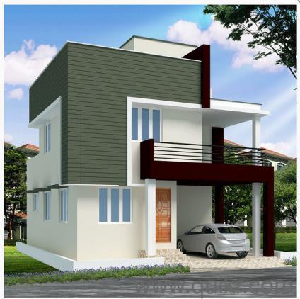 Villa for sale in chennai residential villa in chennai for Exterior home design in chennai