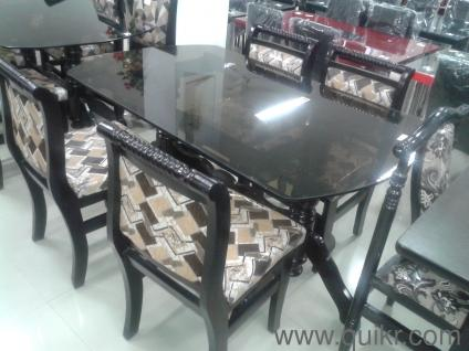 glass dining table with 4 chairs in hyderabad. dining table - 4 chair teakwood dinning with glass top brand new home office furniture nampalli, hyderabad | quikrgoods chairs in e
