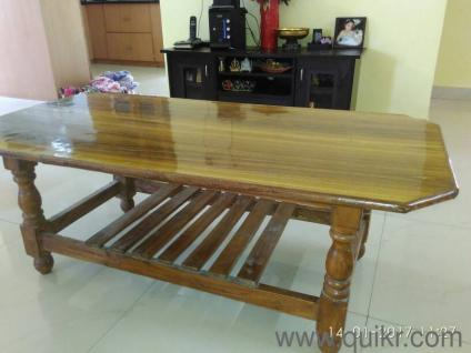 teak wood center table for sale - Gently Used Home - Office