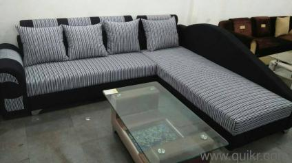 Brand New Gray Black Sectional Coach   Brand Home   Office Furniture    Narayan Nagar, Surat | QuikrGoods