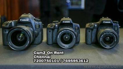Canon DSLR Camera Rent In Chennai - Used Cameras - Digicams ...