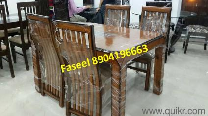Branded New Design Teak Wood Dining Table With Four Chairs